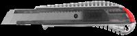 Нож ЗУБР МАСТЕР металлический корпус, механический фиксатор 18мм 09170