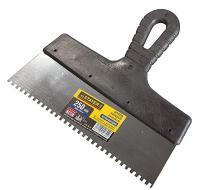 Нержавеющий зубчатый шпатель STAYER 250 мм 1009-25-08