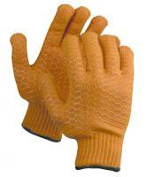 Трикотажные перчатки Зубр с противоскользящим двусторонним перекрестным покрытием (размер S-M) 11278-S