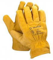 Кожаные рабочие перчатки с подкладкой Зубр МАСТЕР XL 1135-XL