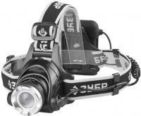 Налобный светодиодный фонарь, регулируемый фокус, 3 режима, трансформер, 6Вт, 450Лм, 4АА Зубр ПРОФИ 56430