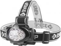 Налобный светодиодный фонарь Зубр МАСТЕР 10Ultra LED, матричный рефлектор, 3 режима, 3ААА 56438
