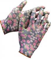 Садовые перчатки с прозрачным нитриловым покрытием Grinda черные, р. L-XL 11297-XL