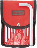 Набор коротких имбусовых ключей HEX, 1.5-12мм, CrV, 10шт, сатин, чехол MATRIX 12309