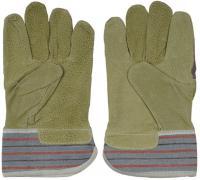 Комбинированные кожаные перчатки STAYER из спилка с тиснением 1131-XL