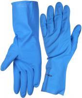 Нитриловые перчатки повышенной прочности с х/б напылением размер S Зубр 11255-S