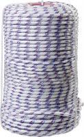 Плетёный полипропиленовый 16-прядный фал с полипропиленовым сердечником, диаметр 8мм, бухта 100м, 520кгс СИБИН 50215-08