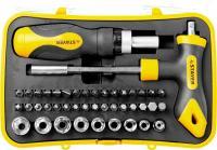 Набор: реверсивная отвертка, Т-образная отвертка-битодержатель, адаптер для торцевых головок, 43шт STAYER MASTER ТECHNO 25084-H43