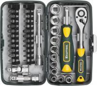 Компактный набор слесарно-монтажного инструмента 1/4', 38шт Kraftool INDUSTRIE 27970-H38