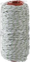 Плетёный капроновый 16-прядный фал с капроновым сердечником, диаметр 6мм, бухта 100м, 650кгс СИБИН 50220-06