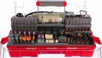 Гравер ЗУБР электрический с набором мини-насадок в кейсе, 242 предмета ЗГ-130ЭК H242
