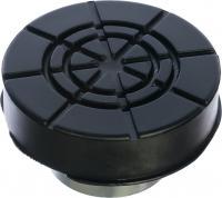 Адаптер для бутылочных домкратов с резиновой накладкой, диаметр штока 28мм MATRIX 50908
