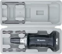 Ударно-поворотная отвертка 1/2', набор бит, 6 шт., черная ручка ПРОФИ, в пластиковом боксе MATRIX 11561