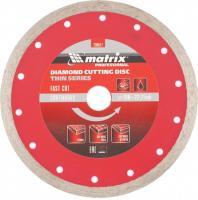Диск алмазный отрезной сплошной тонкий (180х22.2 мм, 2.2х10 мм, мокрое резание) MATRIX 730817