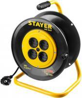 Удлинитель на катушке Stayer MS 207, 30 м, 2200 Вт, 4 гнезда, ПВС 2х0,75 мм2, 55073-30_z01