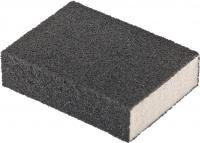 Губка для шлифования (100х70х25 мм, P60, средняя плотность) MATRIX 75712