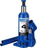 Гидравлический бутылочный домкрат 4т, 192-374мм, ЗУБР Профессионал T50 43060-4_z01