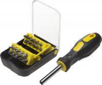 Набор: отвертка-битхолдер с магнитом, 2-компонентная рукоятка, биты Сr-V, в боксе, 21шт STAYER STANDARD 25078-H21