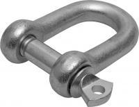Такелажная скоба ЗУБР, 5мм, 2 шт, тип прямой, оцинкованная, 304516-05