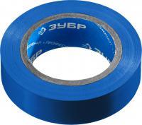 Изолента ПВХ ЗУБР Электрик-20 не поддерживает горение, 20м 0,16x19мм, синяя 1234-7_z02
