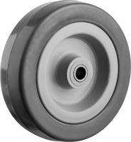 Колесо (100 мм, г/п 65 кг, резина/полипропилен) ЗУБР 30956-100