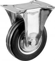 Колесо неповоротное (100 мм, г/п 70 кг, резина/металл, игольчатый подшипник) ЗУБР 30936-100-F