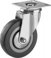 Колесо поворотное (100 мм, г/п 65 кг, резина/полипропилен) ЗУБР 30956-100-S