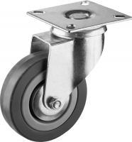 Колесо поворотное (75 мм, г/п 50 кг, резина/полипропилен) ЗУБР 30956-75-S