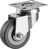Колесо поворотное (50 мм, г/п 35 кг, резина/полипропилен) ЗУБР 30956-50-S