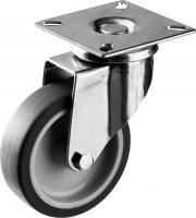 Колесо поворотное (75 мм, г/п 60 кг, термопластичная резина/полипропилен) ЗУБР 30946-75-S