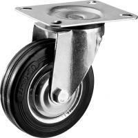 Колесо поворотное (100 мм, г/п 70 кг, резина/металл, игольчатый подшипник) ЗУБР 30936-100-S