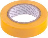 Изолента MATRIX ПВХ, 15 мм х 10 м, желтая, 150 мкм 88773