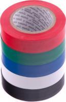 Набор изолент MATRIX, ПВХ, цветные, 15ммх10м, 5шт, 150мкм 88786