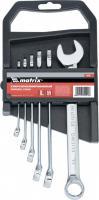 Набор комбинированных ключей 8-17мм 6шт MATRIX 15416