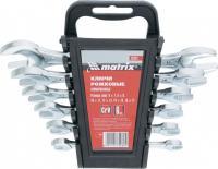 Набор рожковых ключей 6х17 мм, 6 шт., CrV, хромированные MATRIX 15231