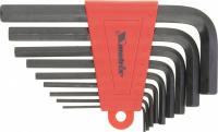 Набор шестигранных удлиненных ключей 2.0-12 мм 9 шт MATRIX 11227