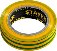 Изолента STAYER Protect-10 ПВХ 10м (0,13х15 мм), желто-зеленая 12291-S