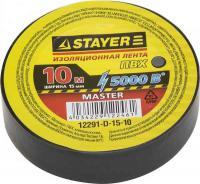 Изолента STAYER Protect-10 ПВХ 10м (0,13х15 мм), черная 12291-D