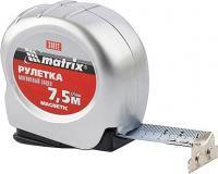 Рулетка 7,5 м х 25 мм Magnetic MATRIX 31012
