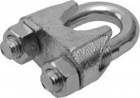 Зажим троса Зубр DIN 741, оцинкованный, 5мм, ТФ5, 100 шт 4-304415-05