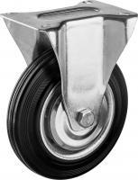 Колесо неповоротное (160 мм, г/п 145 кг, резина/металл, игольчатый подшипник) ЗУБР 30936-160-F