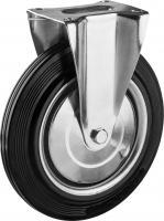 Колесо неповоротное (250 мм, г/п 210 кг, резина/металл, игольчатый подшипник) ЗУБР 30936-250-F