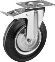 Колесо поворотное c тормозом (200 мм, г/п 185 кг, игольчатый подшипник) ЗУБР 30936-200-B