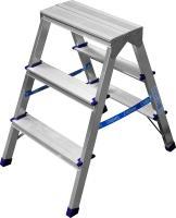 Двухсторонняя алюминиевая лестница-стремянка СИБИН 3 ступени 38825-03