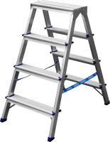 Двухсторонняя алюминиевая лестница-стремянка СИБИН 4 ступени 38825-04