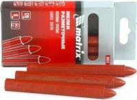 Разметочные восковые мелки MATRIX красные, 120мм, 6 шт. 84818