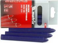 Разметочные восковые мелки MATRIX синие, 120 мм, 6 шт. 84819