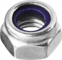 Гайка с нейлоновым кольцом ЗУБР DIN 985, M5, 5 кг, кл. пр. 6, оцинкованная 303580-05