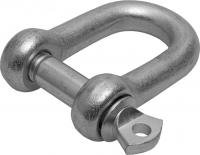 Такелажная скоба ЗУБР 6мм, 2 шт, тип прямой, оцинкованная 304516-06