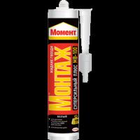 Монтажный герметик клей 12 МВ-100 МОНТАЖ ПЛЮС суперсильный, 400г Момент 1079437